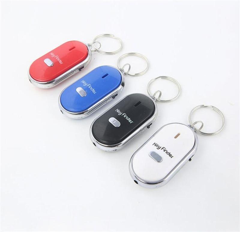Mini Anti-lost Whistle Key Finder Flashing Beeping Remote Kids Key Bag Wallet Locator Child Alarm Reminder