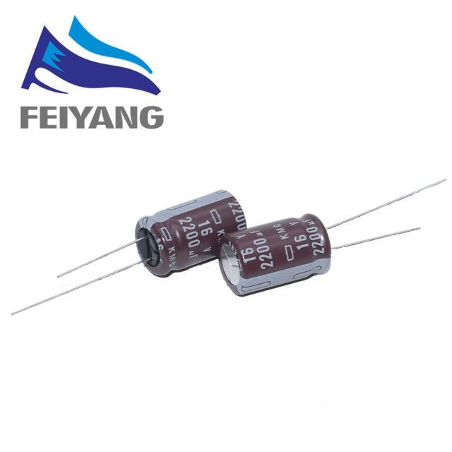 100PCS ניפון NCC 2200uF 1500UF 1000UF 16V 12.5x20mm נמוך עכבה 16V2200uF 16V1500UF 16V1000UF אלומיניום אלקטרוליטי קבלים