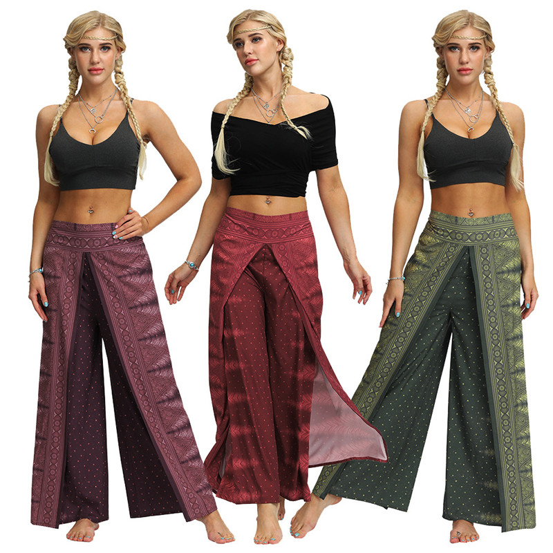 Ladies Yoga Harem Aladdin Palazzo Loose Fit Festival Pants One Size 10 12 14 16