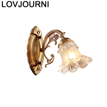 Modern Stair Arandela Para Parede Bathroom Lamp Crystal Wandlamp Bedroom Aplique Luz Lampara De Pared Interior Wall Light