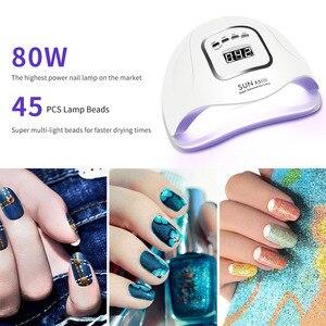 Image 3 - Nail Set with uv led lamp Manicure Kit for Nails 10 PCS Nail Polish Set with Nail Drill Machine Top Base Coat Nail Art Tools Set