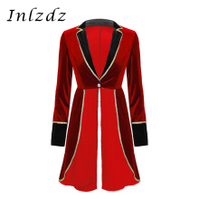 Rave Outfit Jacket Festival Ringmaster-Costume Cosplay Halloween Circus Adult Womens