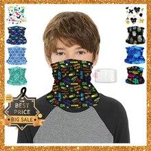 Headwear Bandana Kids Scarf Ring Sunscreen-Collar Face Boy Triangular Magic-Tube Washable