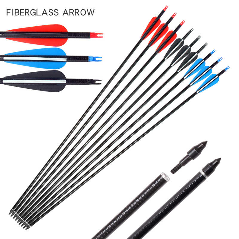 31 Zoll Bogenschießen Carbon Arrows Jagd Ziel Übungspfeile für Outdoor-Sport