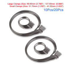 10PCS / 20PCS Universal Adjustable Axle CV Joint Boot Crimp Clamps Large & Small Kits Stainless Steel For Car Vehicle