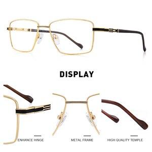 Image 2 - MERRYS дизайн мужские роскошные очки оправа близорукость по рецепту очки Оптическая оправа Бизнес Стиль S2107