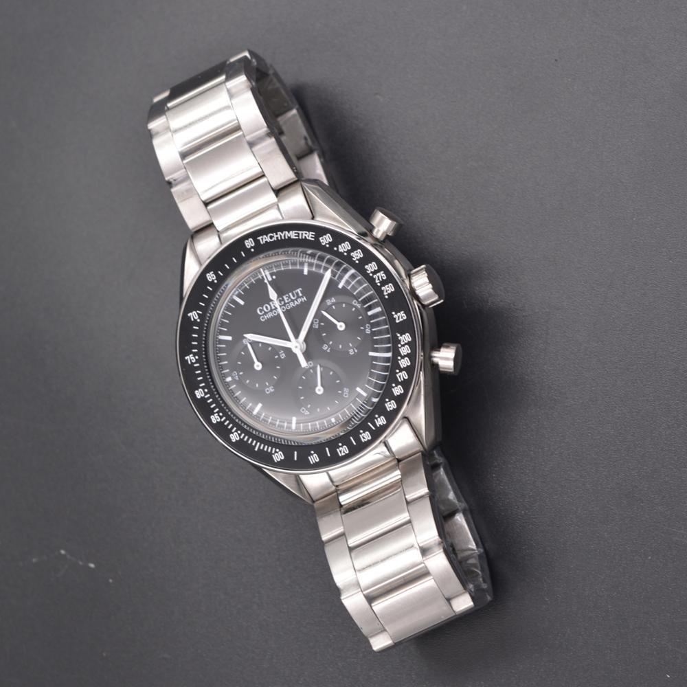 Montre hommes 40MM crrju мужские часы cadisen relojes de hombre de lujo montres à quartz montre hommes relogio masculino date Automatique