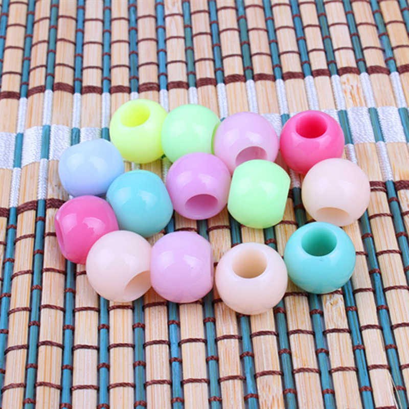 20 stücke Candy Farbe Häkeln kinder Kind Box Zöpfe haar braid furcht dreadlock perlen ringe rohr Flechten Haar Verlängerung Zubehör