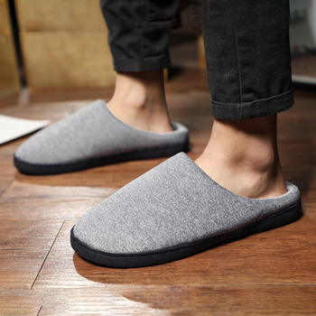 Indoor Slippers Men Winter Couple Warm Shoes Male Leopard Print Casual Cotton Slippers Home Non-slip Slides Large Size 47 2020 summer cool rhinestones slippers for male gold black loafers half slippers anti slip men casual shoes flats slippers wolf