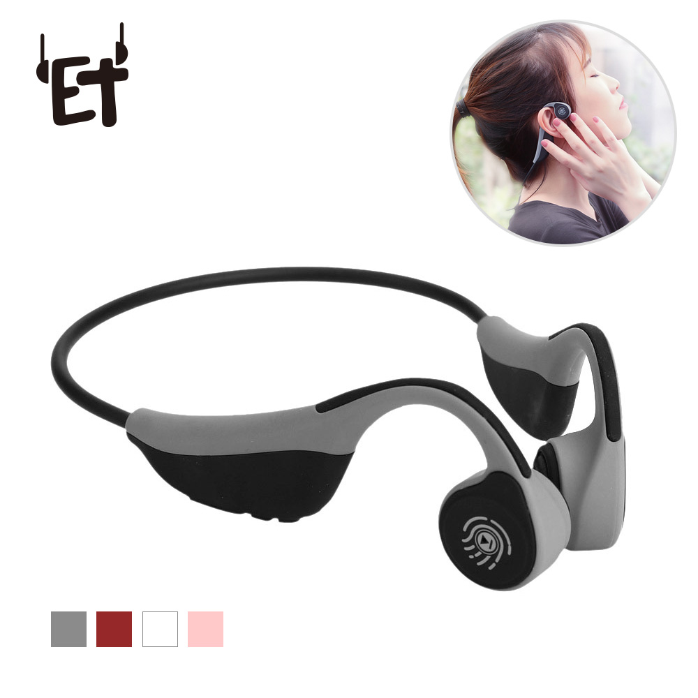 V9 Bone Conduction Headset Bluetooth Wireless Headphones Ear Hook Earphones Waterproof Neckband for Outdoor Sports Running