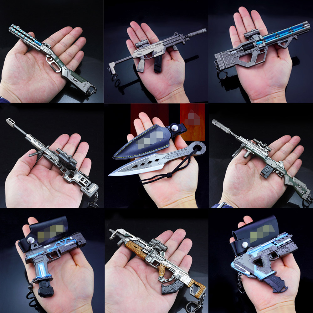2019 New Key Chain <font><b>APEX</b></font> Legend Game Battle Royale Metal Gun Model <font><b>Toy</b></font> Alloy Keychain 20CMChristmas gift image