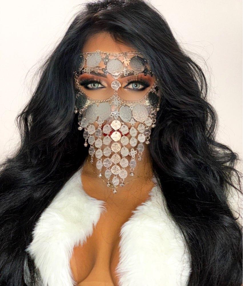 Женские Стразы, украшения для маскарада, искусственная танцевальная Фата с цепочкой на голову