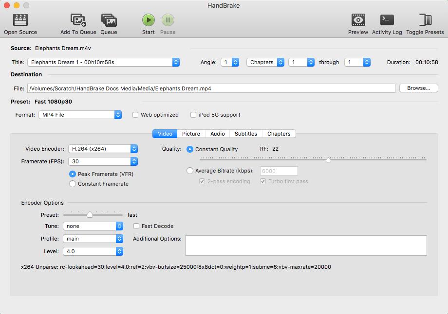 Handbrake免费视频压缩/格式转换工具插图1