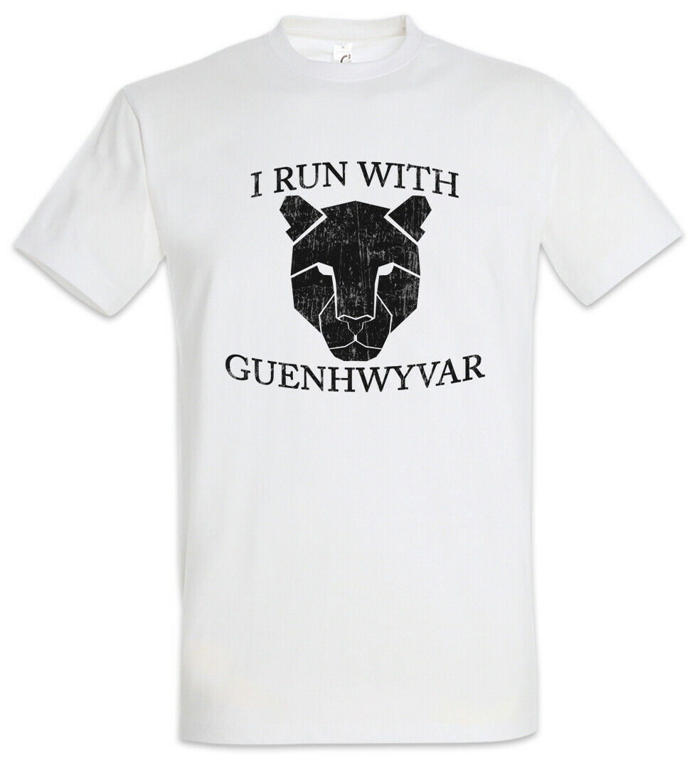 I Run With Guenhwyvar T-Shirt The Legend Drow <font><b>Drizzt</b></font> Dark Elf Do'Urden Trilogy image
