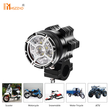 Motorcycle Headlights 45W Explosion Proof Net 9 Beads 5500LM LED Glare Working Spot Light Aluminum Dustproof Waterproof Fog Lamp