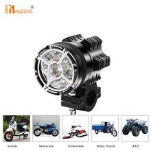 Motosiklet farları 45W patlamaya dayanıklı Net 9 boncuk 5500LM LED parlama çalışma Spot işık alüminyum toz geçirmez su geçirmez sis lambası