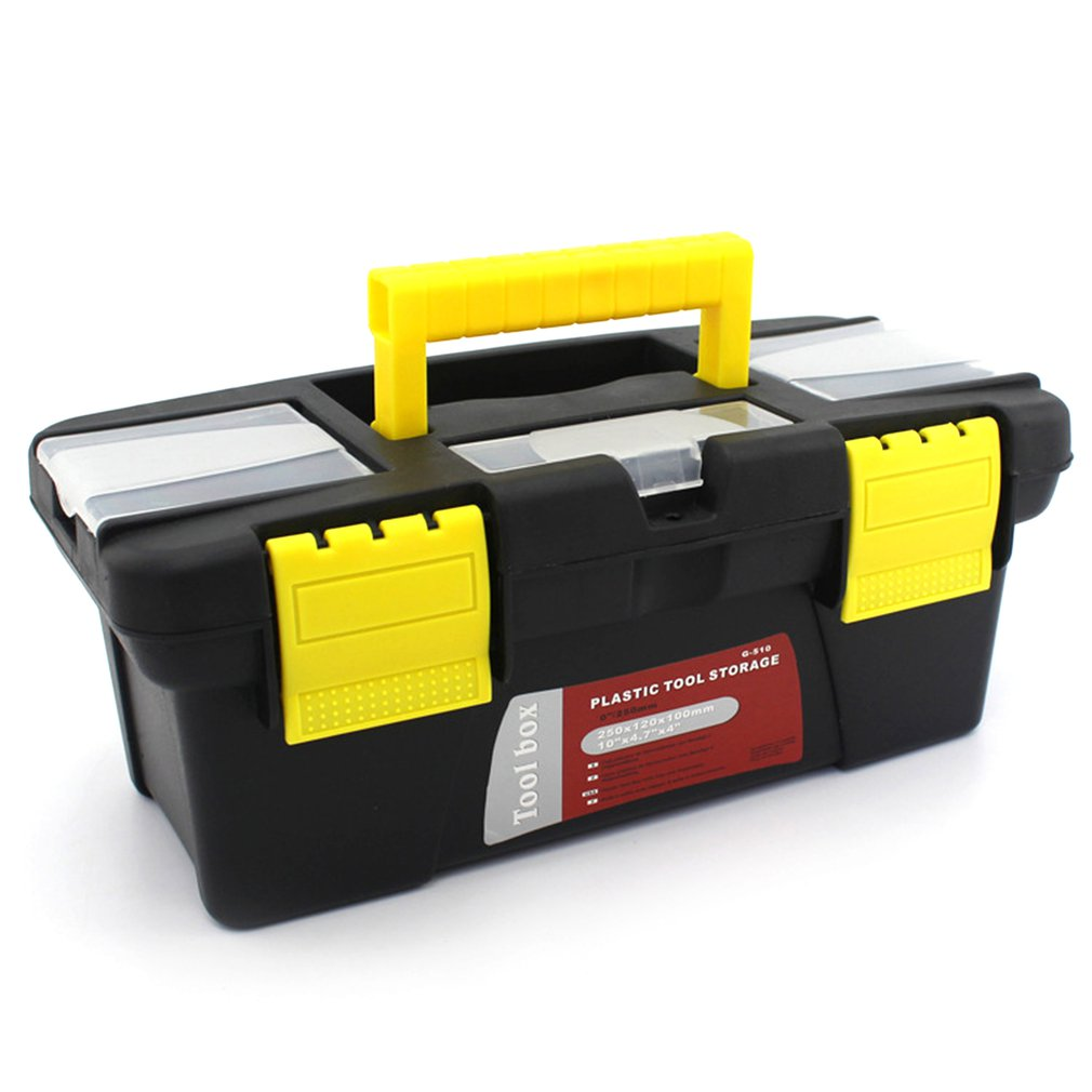 Portable S/M/L Size Plastic Hardware Toolbox Household Multifunction Maintenance Toolbox Car Storage Box Anti-fall Box