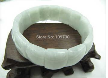 送料無料>>>>> 20 中国の天然アクアヒスイ/硬玉チャーミングロングリンクビーズブレスレット