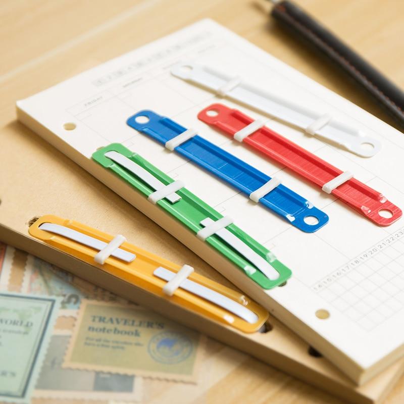 1pcs Loose-leaf Clips Paper Fasteners Color Plastic Binding Clip Binder File Folder Notebook Office Stationery Storage Supplies