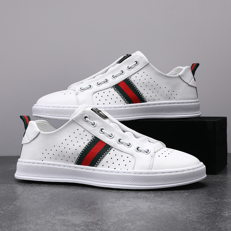 2021 spring and autumn new men white shoes fashion trend men's vulcanized shoes men's sports shoes all-match four seasons shoes