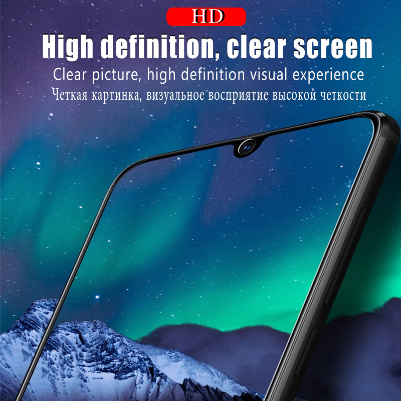 Full Cover Clear Screen Protector Tempered Glass For Samsung Galaxy A10 A50 A20 A70 A51 4