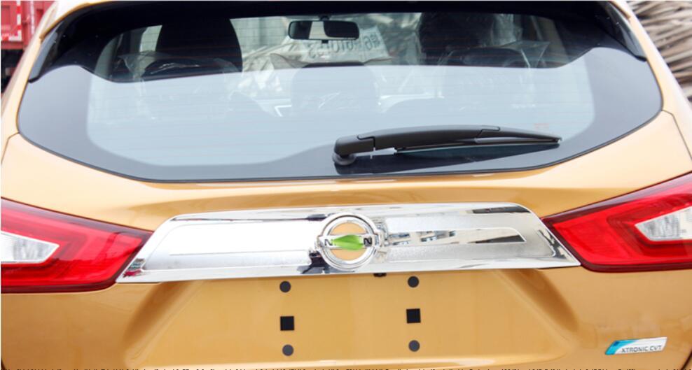 Acier inoxydable/ABS Chrome voiture au-dessus du couvercle du coffre arrière garniture de couvercle s'adapte pour Nissan Qashqai 2016 2017 2018