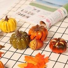 Artificial Pumpkins Maple Leaf Pomegranate Table Home Decor House Prop Autumn Fall Harvest Thanksgiving Halloween