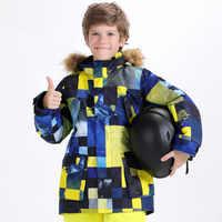 Kombinezon narciarski chłopcy i dziewczęta wiatroszczelna wodoodporna ciepła kurtka Outdoor sprzęt podróżny oddychający duży kombinezon narciarski dla dzieci