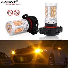 Ijdm nenhum carro amarelo âmbar do flash hyper psx24w ps19w psx24w conduzido erro livre de canbus lâmpadas led para luzes de sinal de volta da frente do carro 12v