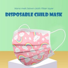 50Pcs Kids Disposable Face Mask Fashion Cartoon Print Non Woven Masks For Germs Protection Free Kids Face Mask masques lavables
