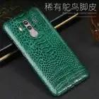 Luxe Natuurlijke Struisvogel voet huid Voor Huawei Mate 8 9 10 Pro case Echt lederen Cover Voor P8 P9 p10 lite P Smart Nova 2S