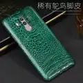 Piel de pie de avestruz Natural de lujo para Huawei Mate 8 9 10 Pro Funda de cuero auténtico para P8 P9 P10 lite P Smart Nova 2S