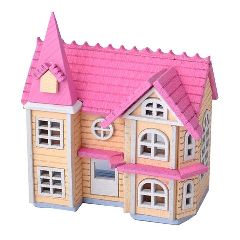 Mini DIY House Wooden Crafts Toys Dollhouse Accessories Handcraft Miniature Project Kit Fairy Garden Decor