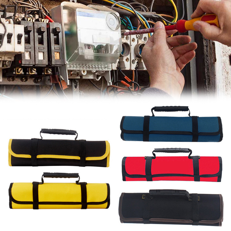 Multifunction Oxford Canvas Folding Wrench Bag Tool Roll Storage Pocket Tools Waterproof Storage Hand Tool Bag