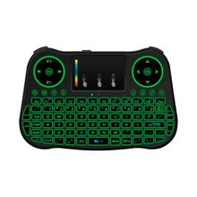 MT08 Mini Keyboard Nirkabel Rainbow Backlit Touchpad 2.4GHz Udara Mouse untuk Smart TV BOX Inggris Rusia Spanyol(China)