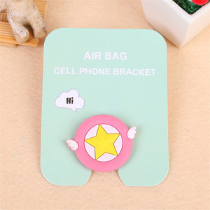 Image 5 - phone holder finger cute cartoon bracket for all mobile phones Universal mobile phone bracket airbag extension bracket and grif