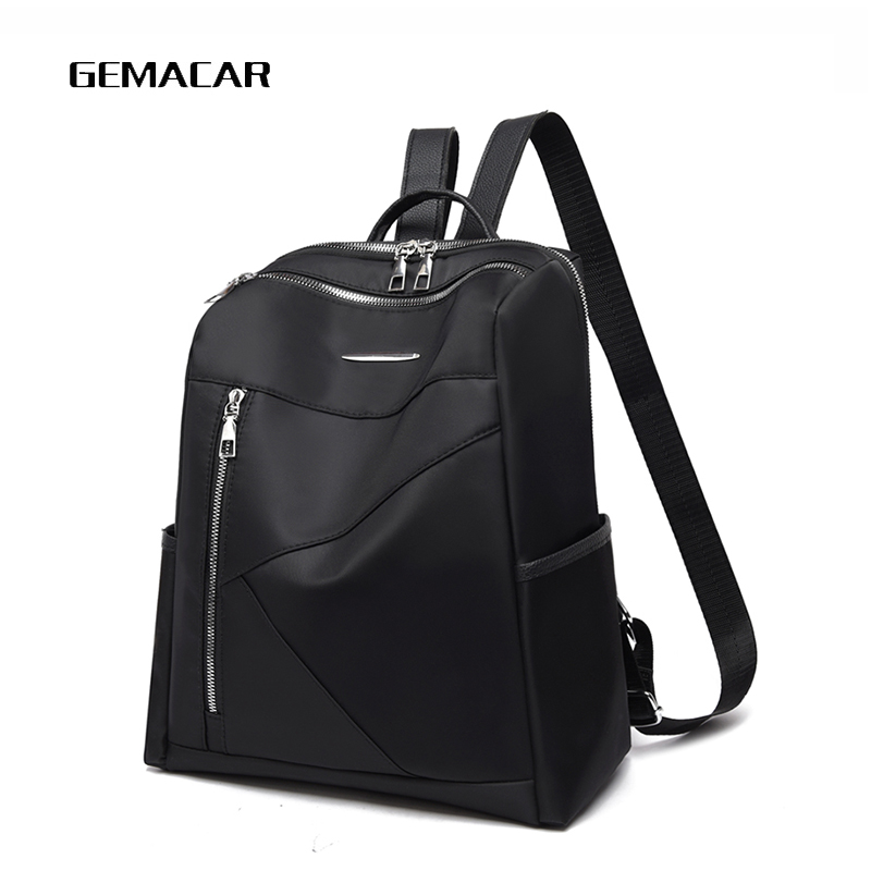 Fashion Women Backpack Oxford Cloth Casual Female Daily Bagpack Simple Splice Lady Bag Large Capacity Sturdy Black Khaki