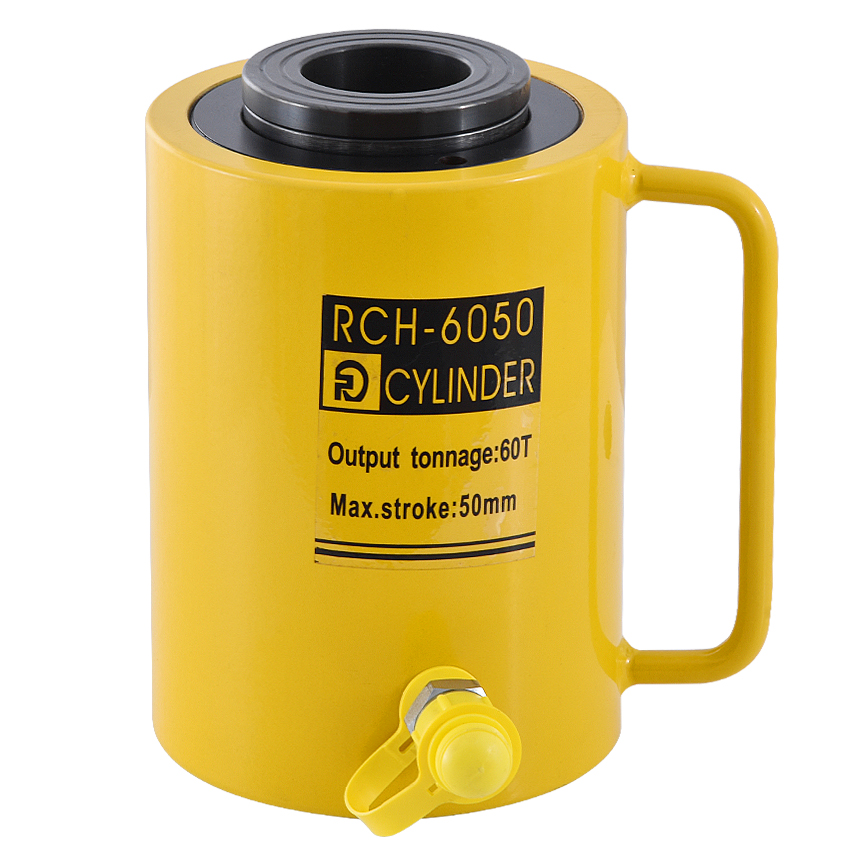 1PC 60T 50mm  RCH-6050 Hydraulicjack,hydraulic Hollow Plunger Jack,hollow Plunger Ram,hydraulic Hollow Cylinder