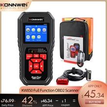 KONNWEI KW850 OBD2 Quét Chuẩn Đoán Tự Động Dụng Cụ OBD 2 Công Cụ Chẩn Đoán Kiểm Tra Động Cơ Ô Tô Xe Máy Quét Mã Đen
