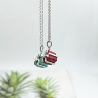 Sterling silver 925 classic popular original fashion red gift box charm ladies silver necklace jewelry
