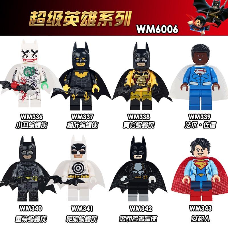 WM6006 Única Venda Val-zod Punisher Marvel Super Heroes Batman Batman Figuras de Plástico Blocos de Construção de Brinquedos de Presente Para Crianças DIY