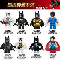 WM6006 venta única Marvel superhéroes Batman castigador Batman val-zod figuras de plástico bloques de construcción juguetes de regalo para niños DIY