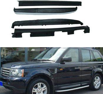 2 szt Listwy samochodowe pasujące do Range Rover Sport 2006-2013 listwy boczne listwy Nerf Protector Platform tanie i dobre opinie CN (pochodzenie) Left Right Aluminium Aluminum 150KGS Black