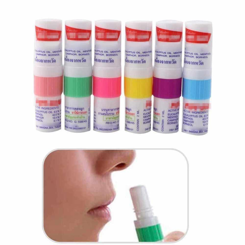 Dropshipping 1pc Thailand Nasal Inhaler Poy Sian Mark 2 Herbal Inhaler Poy Sian Stick Mint Cylinder Oil Branching Asthma Breezy