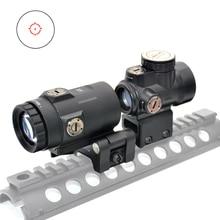 Tactical MRO HD Reticolo Reflex Sight 1x Rosso di Vista del Puntino Portata Ottica Con 3x lente di ingrandimento Flip al lato montaggio Scope vista