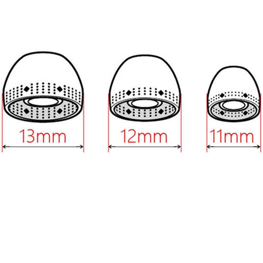 8 Pcs In Ear Eartips Silicone Headset Earphone Cap for Sony MDR-EX750BT/WI-1000X/WI-H700 Earphones Headphones Eartips Cap
