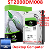 """New HDD For Seagate Brand BarraCuda 2TB 3.5"""" SATA 6 Gb/s 256MB 7200RPM For Internal Hard Disk For DesktopHDD For ST2000DM008 1"""
