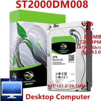 """Neue HDD Für Seagate Marke BarraCuda 2TB 3.5 """"SATA 6 Gb/s 256MB 7200RPM Für Interne Festplatte festplatte Für Desktop-HDD Für ST2000DM008"""