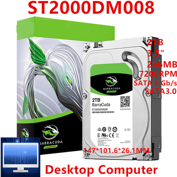 "Nowy dysk twardy dla Seagate marki BarraCuda 2TB 3.5 ""SATA 6 Gb/s 256MB 7200RPM dla wewnętrzny dysk twardy dla pulpitu HDD dla ST2000DM008"