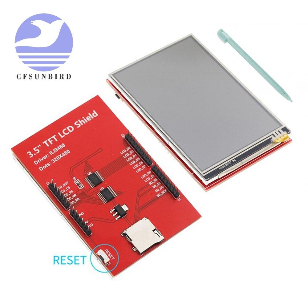 """3.5 """"3.5 polegada 480*320 tft lcd módulo de exibição da tela controlador ili9488 para arduino uno mega2560 placa com/sem painel toque"""